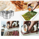 24/36X Magnetic Spice Tin Jars Container Storage W/ Lid Set Stainless Steel