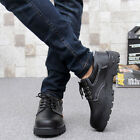 Mens Work Safety Shoes Steel Toe and Sole Leather Waterproof Anti-Puncture Proof