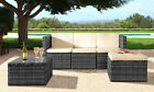 Rattan Garden Patio Furniture Outdoor 3pc Set - Sofa, Footstool & Coffee Table
