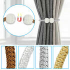 2-8Pcs Curtain Tie Backs Magnetic Ball Buckle Holder Tieback Clips Window Home