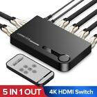 Out HDMI 5 In 1 Switches Splitter For PS4 Xbox one ports Remote Control Adapters