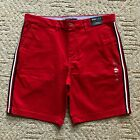 "NWT Tommy Hilfiger Men's THFLEX 9"" Fashion Side Stripe Casual Chino Shorts Al Sz"