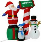 Купить Inflatable Christmas Santa Claus Deer Lighted Air Blown Yard Party Decor 5 Style