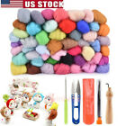Kyпить 50 Colors Fibre Wool Roving For Needle Felting Spinning DIY Craft Material Set на еВаy.соm