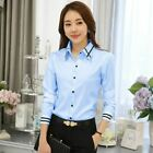 Women OL Work Wear Blouse Long Sleeve Turn-down Collar Formal Elegant Shirt Ladi