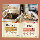 Burgess Cat Food 1.5kg Complete Adult Chicken & Duck, Scottish Salmon - OFFER!
