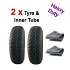 3.00-4 Heavy Duty Mobility Scooter Tyre Set with Inner Tubes 260 x 85 Pair