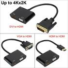 4K*2K HDMI to VGA/HDMI/DVI Adapter HD Converter Cable for Computer/TV/ Projector