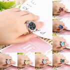 Multicolor Women Men Quartz Finger Ring Watch Creative Steel Tone Round Dial