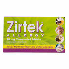 Zirtek Dust Pet Skin Allergy Stings & Hayfever Tablets 7 - EXP: 01/2020