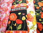 Kyпить Clothworks Poppy Garden BTHY - Black Border or Raspberry Floral Print на еВаy.соm