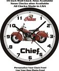 1946 INDIAN CHIEF MOTORCYCLE WALL CLOCK-Free Ship, Harley, Triumph, Yamaha $28.99 USD on eBay