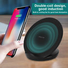 Fast Qi Wireless Charger Charging Station Stand Dock For S9 Vertical Cellphone