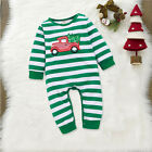 US Infant Baby Boy Girl Cotton Xmas Pajamas Romper Jumpsuit Clothes Outfit 0-18M