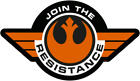 Join the Resistance Star Wars sticker for skateboard luggage laptop tumblers $1.99 USD on eBay