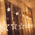138+LED+Star+Fairy+String+Curtain+Window+Lights+Twinkle+Christmas+Party+Wedding