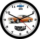 1972 CHEVROLET CHEVELLE WALL CLOCK-Free USA Ship