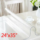 Clear Plastic Tablecloth Waterproof PVC Protector Transparent Dining Table Cover