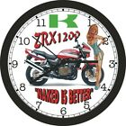 2002 KAWASAKI ZRX1200 NAKED IS BETTER WALL CLOCK- Other colors available!