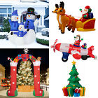 Inflatable Christmas Tree Santa Claus Snowman Lighted Air Blown Yard Party Decor