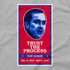 Philadelphia 76ers Shirt Trust the Process Logo Sixers Icon Sam Hinkie Emblem T
