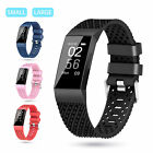 For FitBit Charge 3 Soft Silicone Replacement Strap Band 4 Colors Small Large