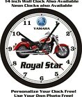 1996 YAMAHA ROYAL STAR WALL CLOCK-FREE US SHIP!-Honda, Kawasaki, Suzuki