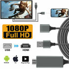 Used, 1080P HDMI Mirroring Cable Phone to TV HDTV Adapter For iPhone 11/ iPad/ Android for sale  Shipping to Nigeria