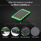 10000mAh Solar Power Bank Waterproof Dual USB Battery Charger For Cell Phone US