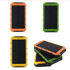 10000mAh Solar Power Bank Waterproof Dual USB Battery Charger For Stall Phone US