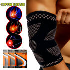 Copper Elbow Brace Fit Compression Sleeve Support Tendonitis Pain Tennis Golfer