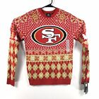 San Francisco 49ers Christmas Sweater Mens NFL Team Apperal Klew $29.95 USD on eBay