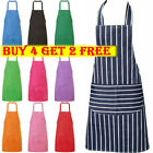 Plain Catering Apron with Front Pocket Chef Butcher Kitchen Cooking Craft Baking