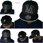 INITIAL LETTERS SNAPBACK CAPS BASEBALL MENS LADIES CAPITALS PREMIUM HATS BLING