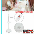 Pro 5x/8x LED Facial Magnifying Floor Lamp Rolling Magnifier Glass Lens Light