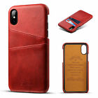For Iphone 7 8 Plus Xs Max Xr Leather Shockproof Case Wallet Card Slot Holder