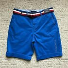 "NWT Tommy Hilfiger Men's THFLEX 9"" Chino Shorts With Belt 4 Colors All Sizes NEW"
