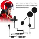 Motorcycle Helmet Headset Microphone PTT for Motorola/ICOM Walkie Talkie Radios