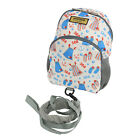 Emmzoe Little Walker Toddler Backpack w/ Detachable Leash - Gray Hearts