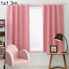 Children Bedroom Star Window Curtaine Blackout Thermal Insulated Drapes Decor