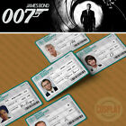 James Bond 007 MI6 00 Branch Secret Agent ID Card, Daniel Craig, Judi Dench $10.78 USD on eBay