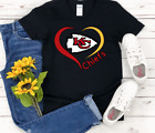 Nfl Kansas City Chiefs T-Shirt Women's Tee Top Gildan White Black Handmade New $23.99 USD on eBay