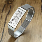 Inspirational To My Son Men Bracelet Mesh Chain Magnet Love Dad Mom Father Gift