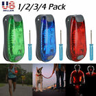 1/2/4Pack LED Safety Light Clip On Strobe Running Cycling Bike Tail Warning Gear