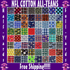 "NFL Cotton Fabric All Teams Sports Collection - 58"" Wide - Sold by The 1/4 Yard! $7.75 USD on eBay"