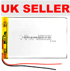 3.7V 606090 4500mAh Rechargeable Lipo Battery Tablet Dvd Camera GPS Toys Etc..