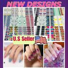 Color Nail Polish Strips BUY 4 Get 3 FREE Manicure Pedicure Sticker