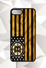 BOSTON BRUINS FLAG IPHONE 5 6 7 8 X PLUS (US SELLER) CASE FREE SHIPPING $14.95 USD on eBay