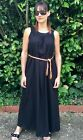Ladies Black Belted Maxi Dress BNWOT Avon