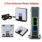 Unlocked For Linksys PAP2T PAP2T-NA SIP VOIP Phone Adapter 2-Ports Gateway RJ45